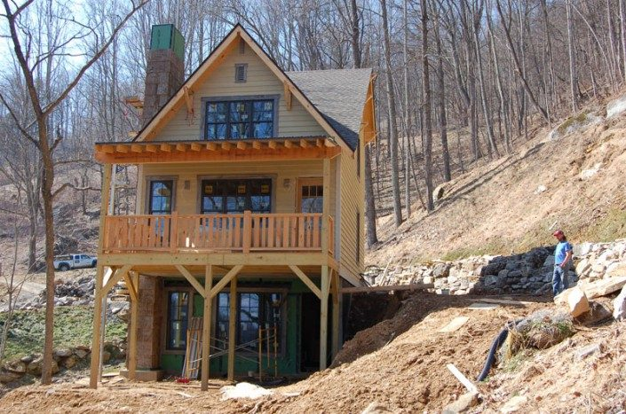 Exterior View | Green Home | WNC