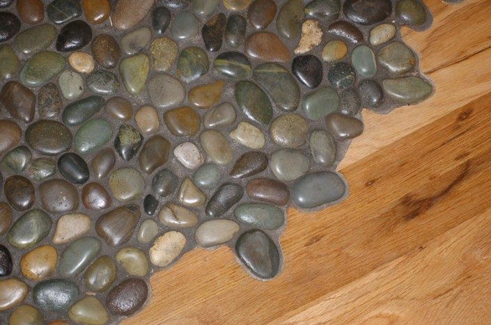 Stone Floor Detail   Green Home   Asheville NC