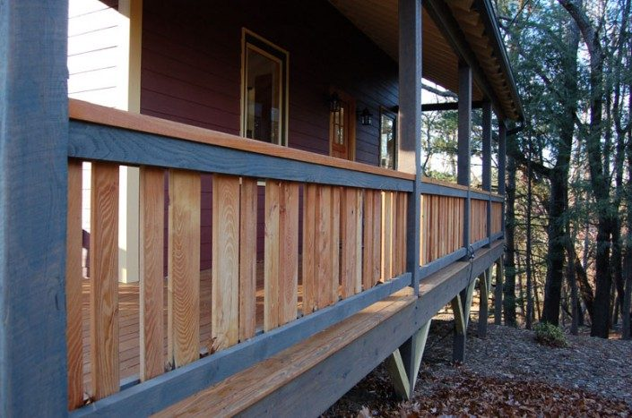 Deck Detail | Green Home | Asheville NC