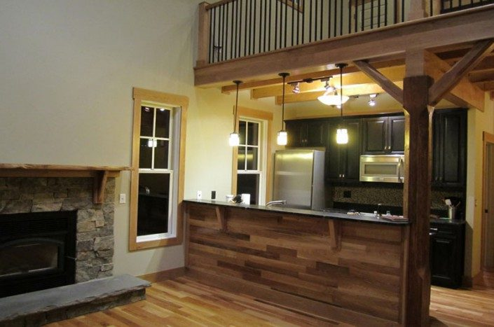 Kitchen Bar | Green Home | WNC