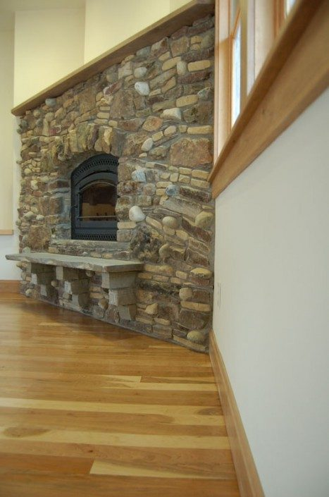 Fireplace | Stonework | Green Home