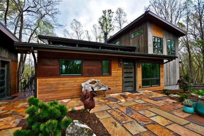 modern stone patio