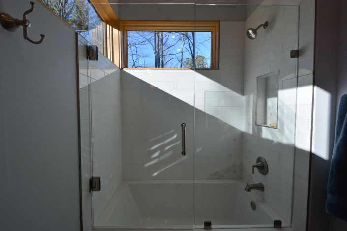 small modern asheville W2 architects Jade Mountain home shower